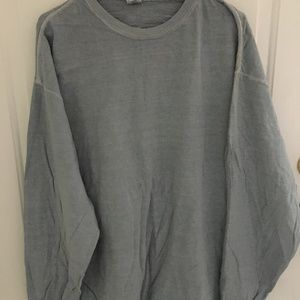 NEW 2 MENS LONG SLEEVE BLUE T-SHIRTS 2X STAINS